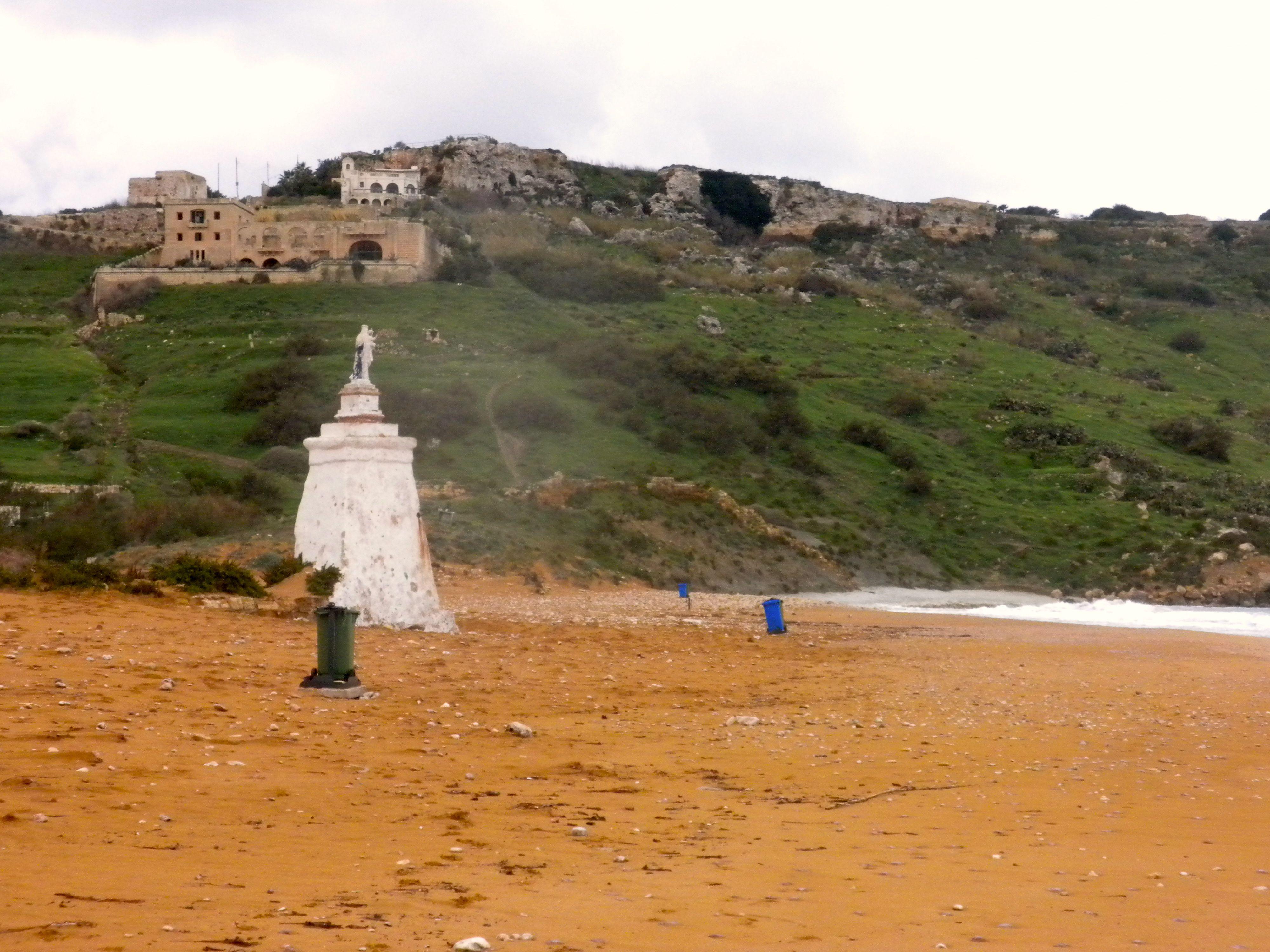 Orange Beach at Ramla Bay in Malta