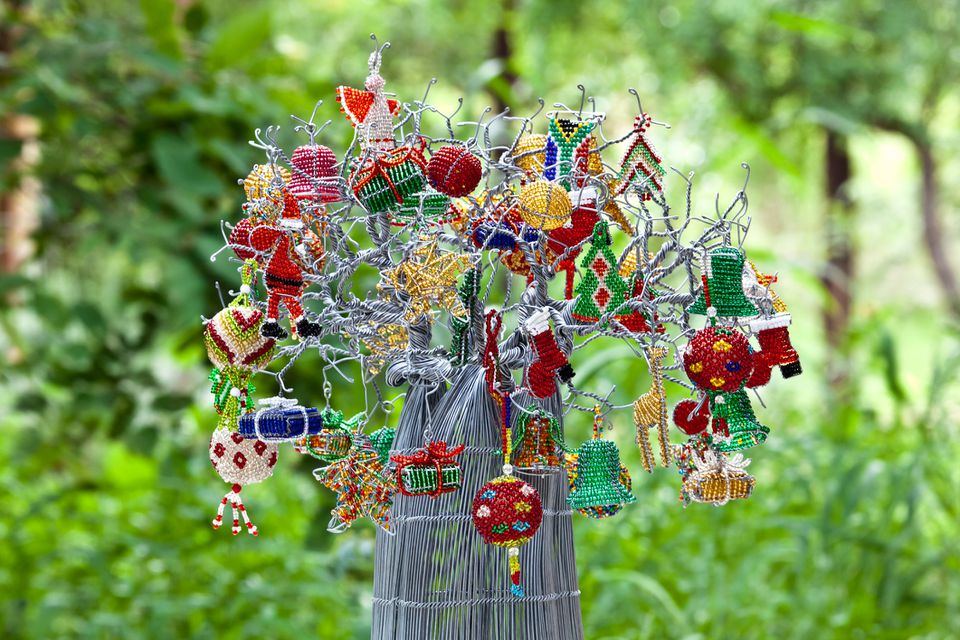 south african christmas decorations made from beads and wire