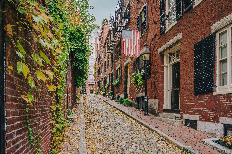 Acorn Street in Boston