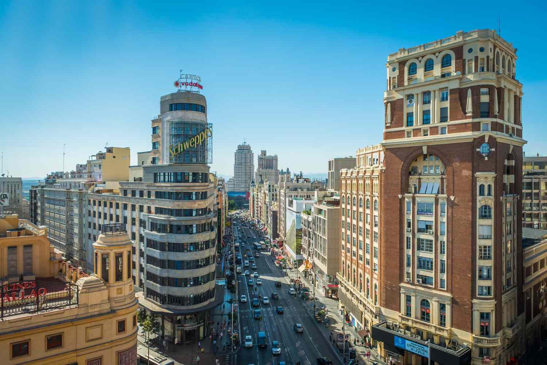 View of Plaza Callao and Gran Vía in Madrid