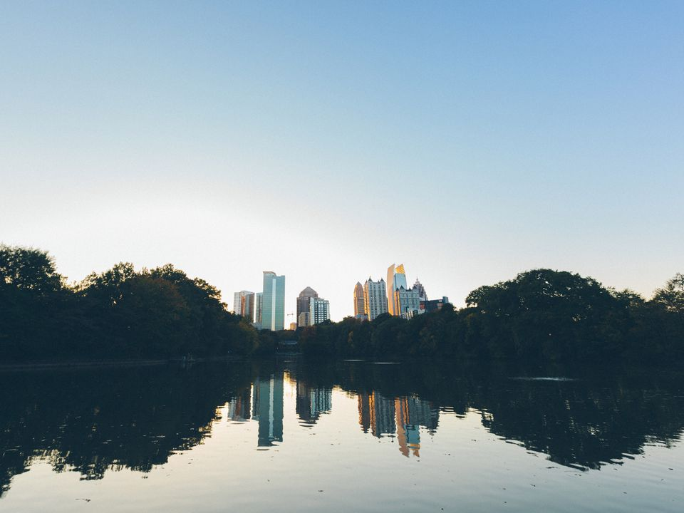 The Atlanta Skyline from Piedmont Park
