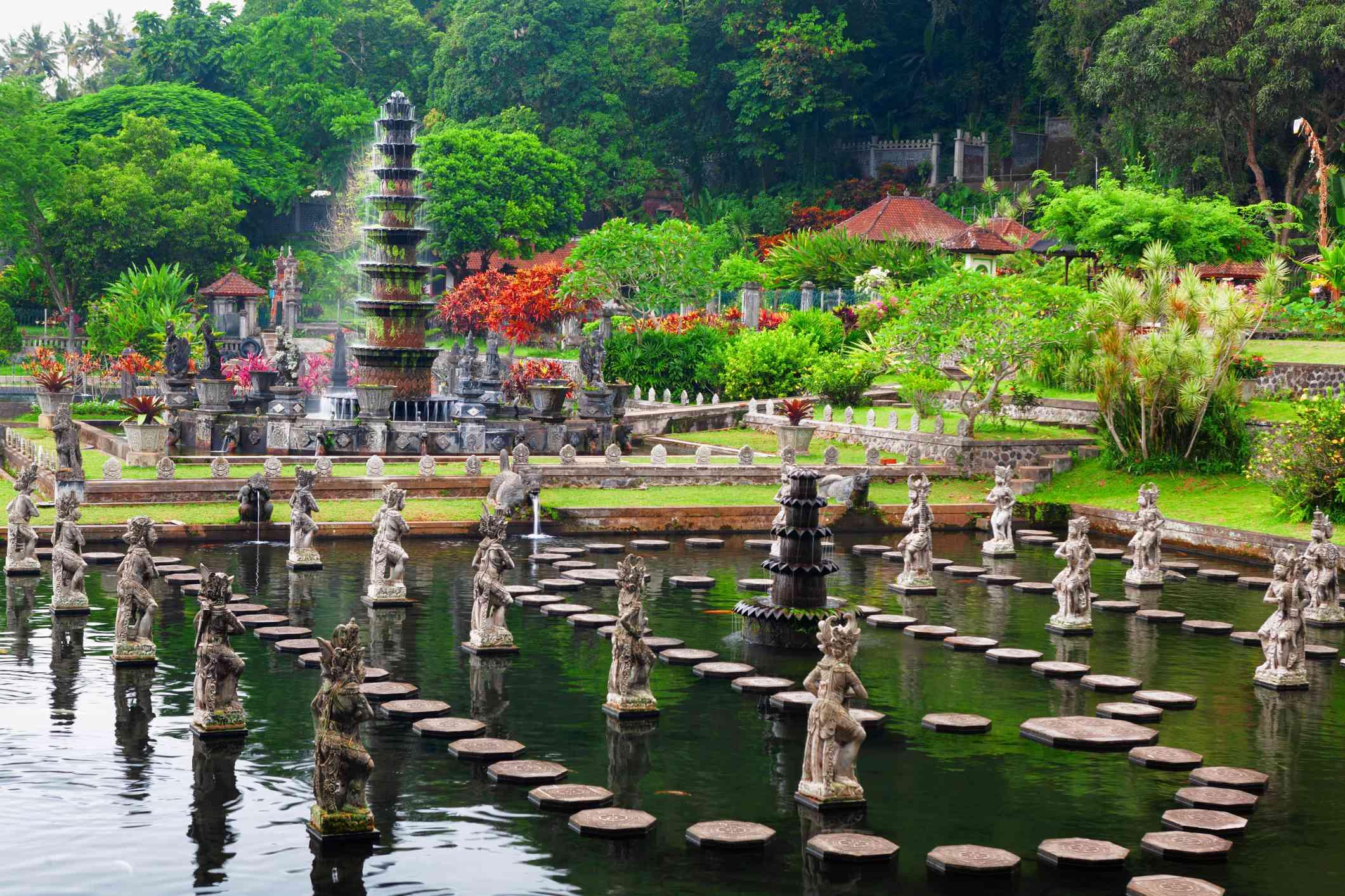 Ancient water palace Tirta Gangga in Karangasem, Bali, Indonesia