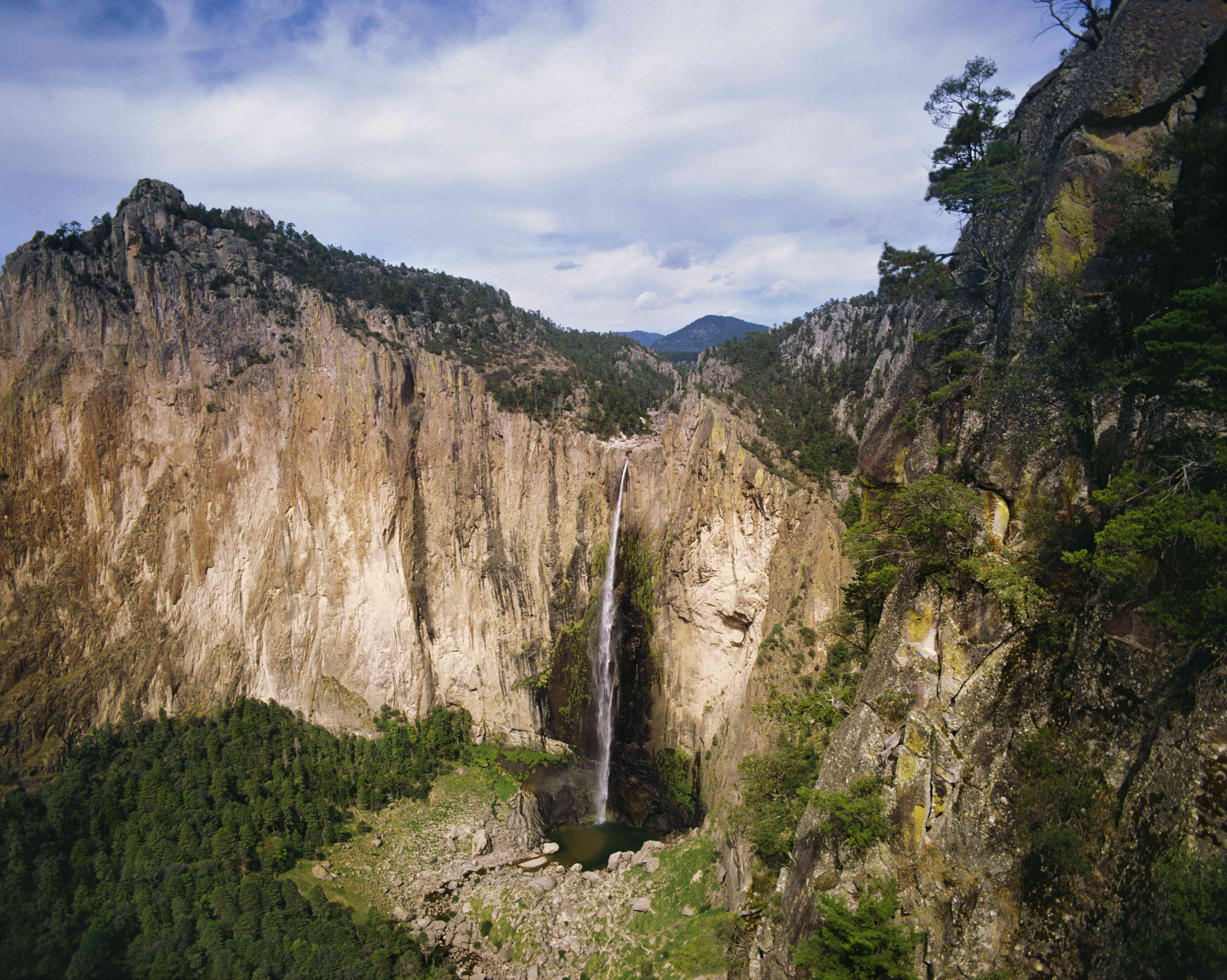 Basaseachic Falls at Basaseachic National Park , Sierra Madre , Chihuahua , Mexico