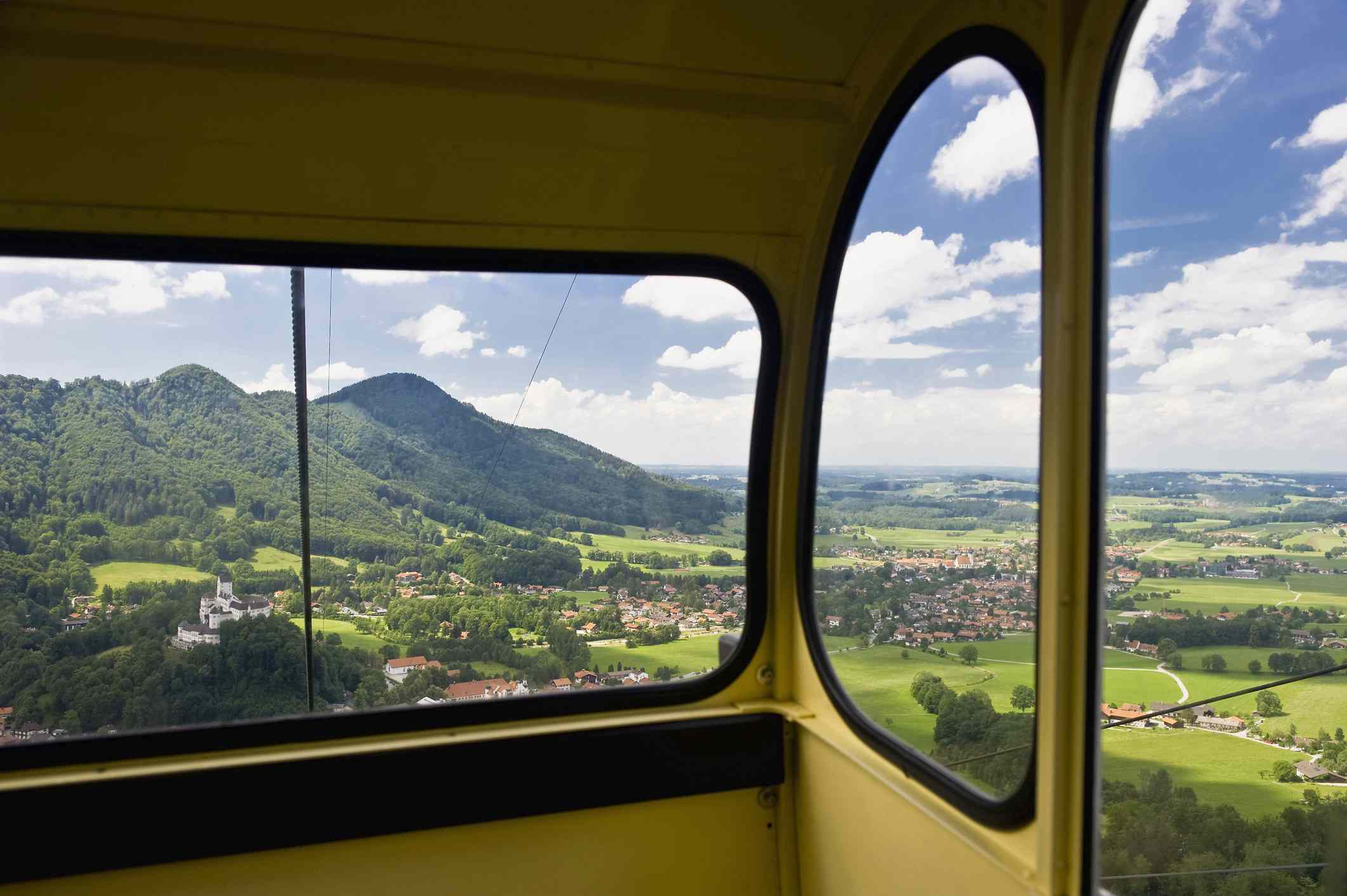 View of Hohenaschau castle from Tegelberg Cable Car