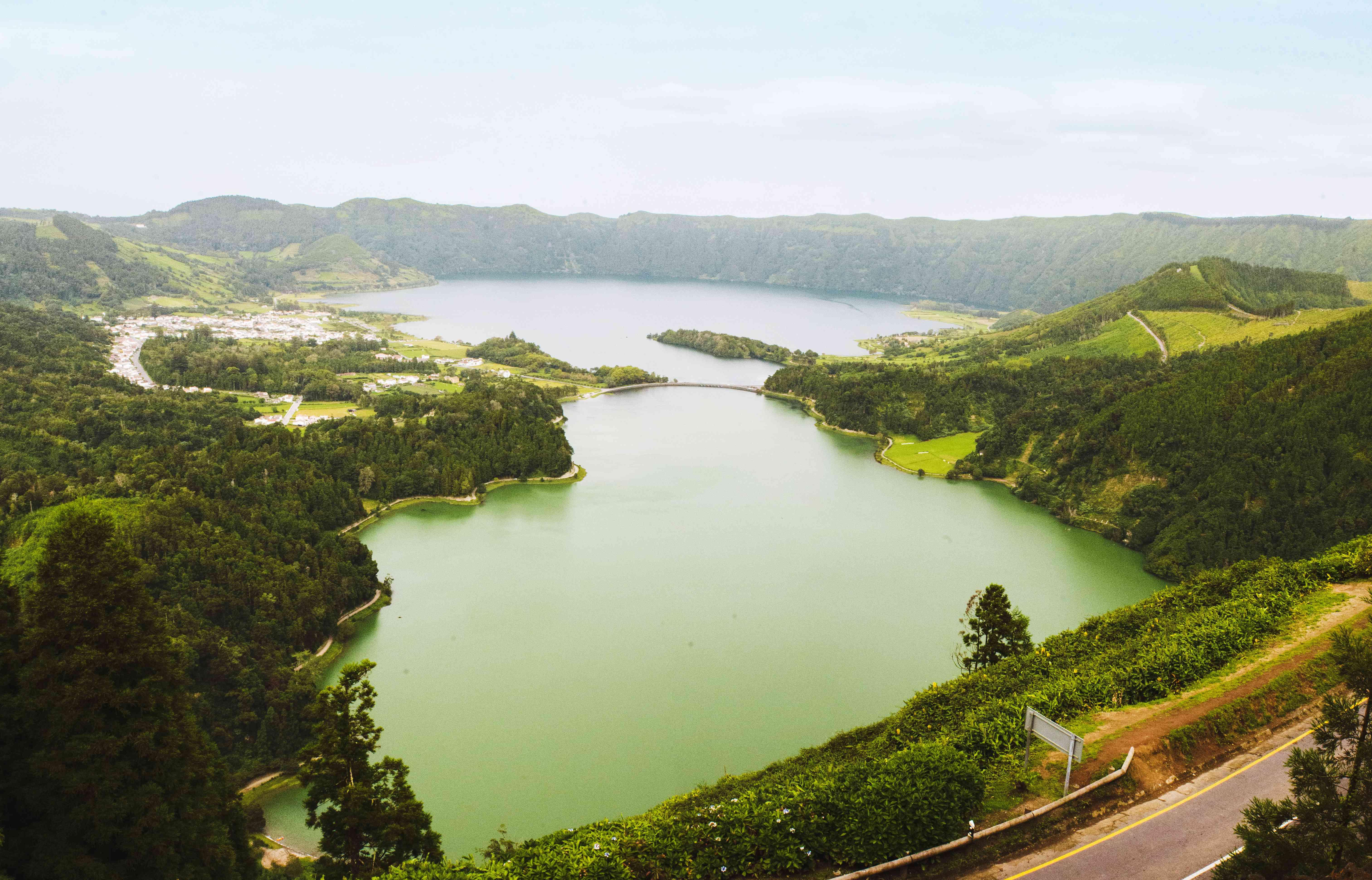 Wide shot of Sete Cidades