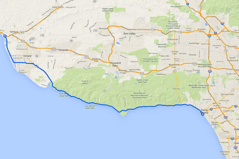 Knx 1070 Traffic Map.Driving The Pacific Coast Highway In Malibu California