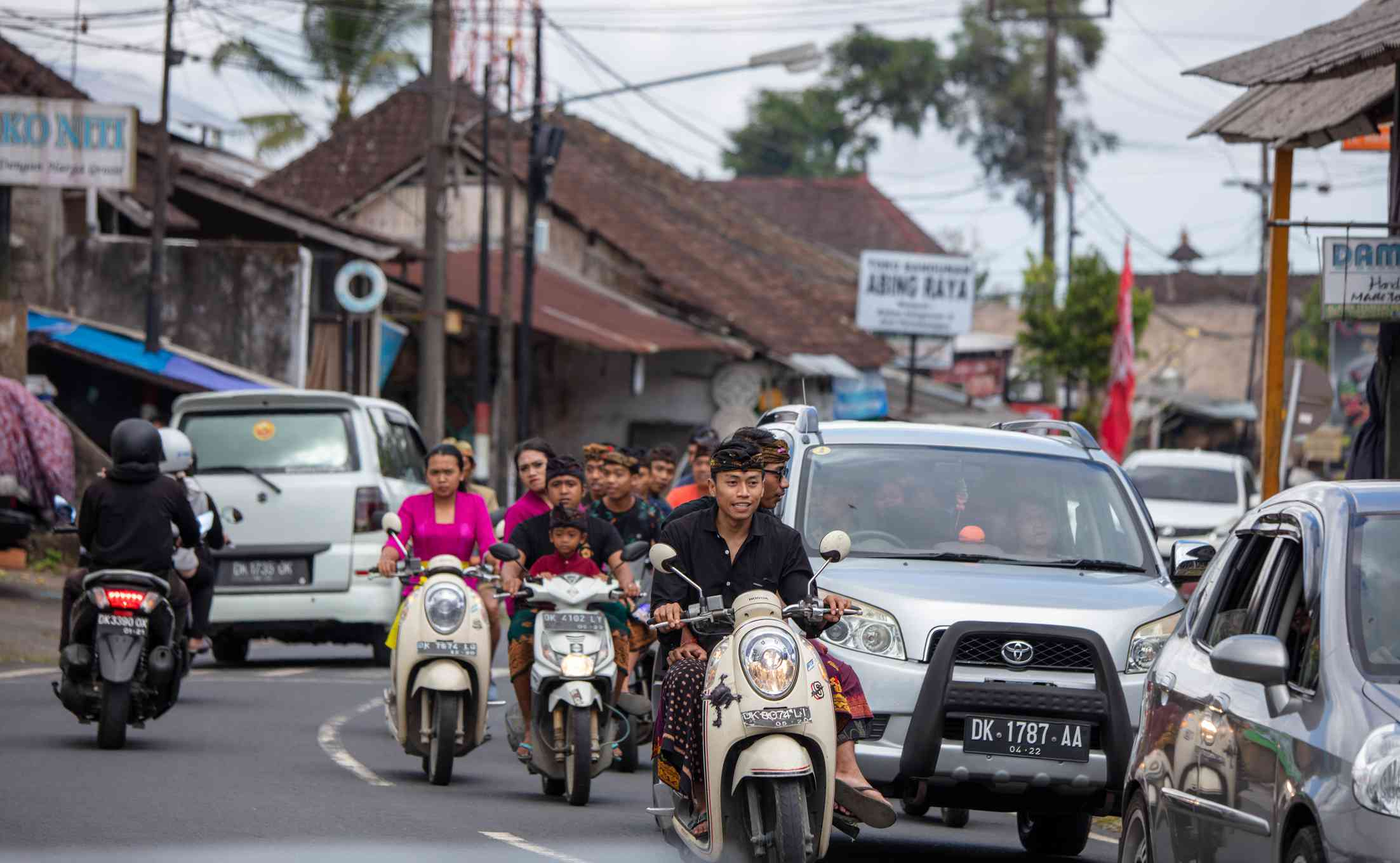Busy Balinese road