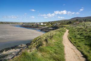 Pembrokeshire Coastal Path showing the Newport Parrog