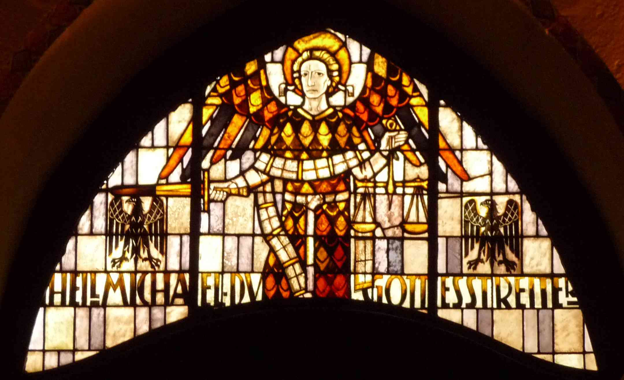 Michaelmas stained glass