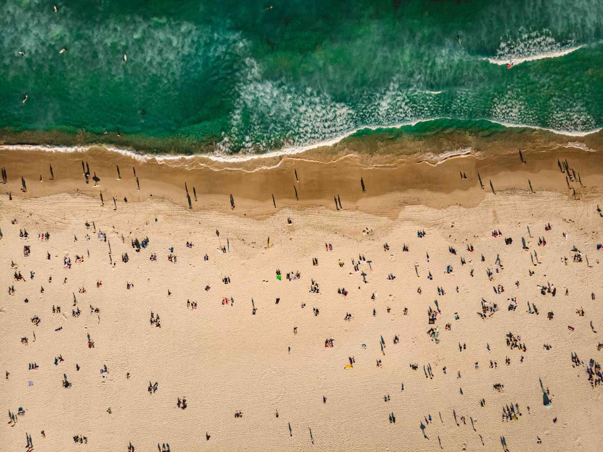 Aerial view of Bondi Beach