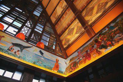 Maka'ala Lobby Mural and Kapa Bands