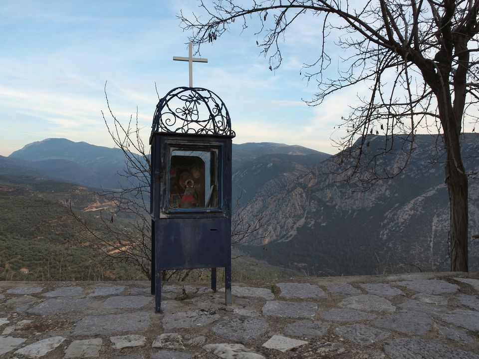 Greek Roadside Shrine