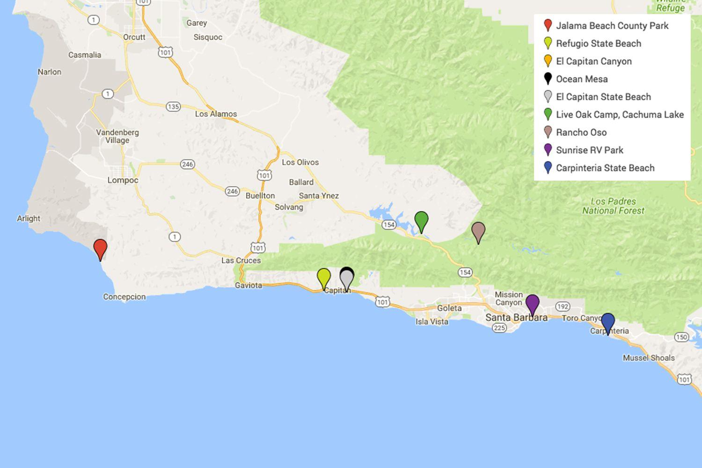 Campgrounds Near Santa Barbara