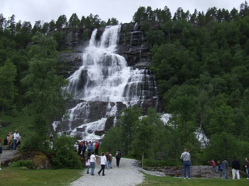 Tvinde Waterfall near Voss, Norway