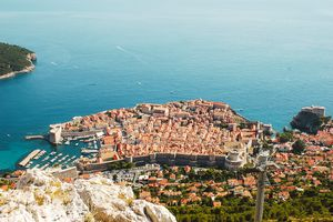 View from above of Dubrovnik Old town