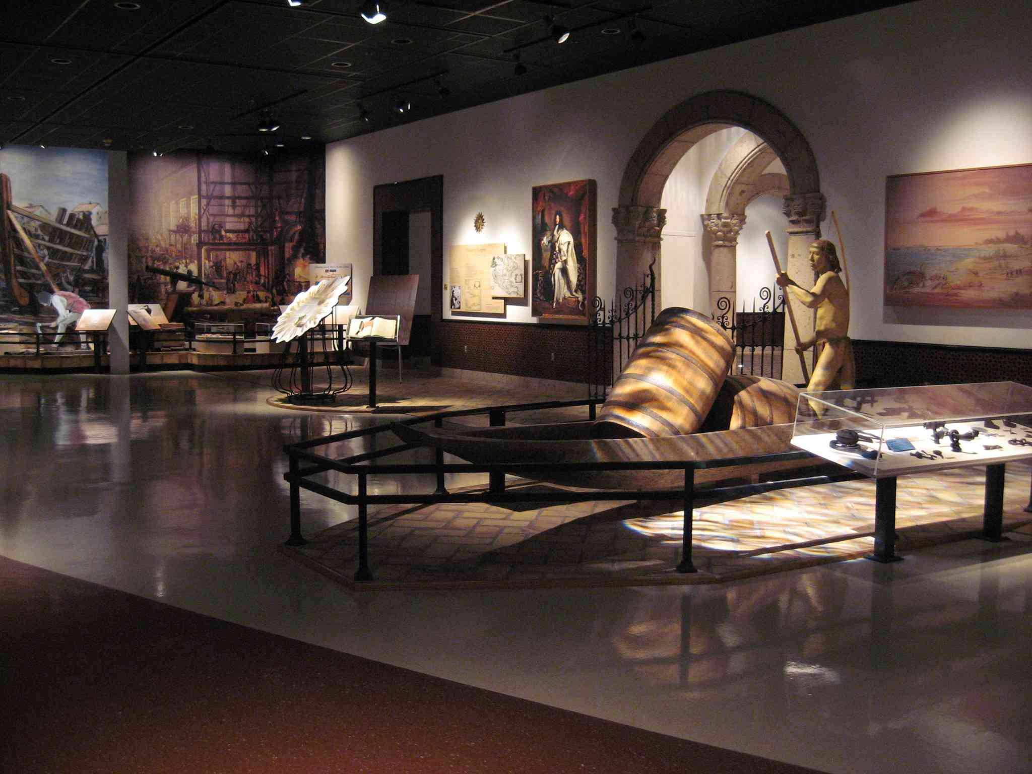 Diorama's and displays in the Corpus Christi Museum of Science and History