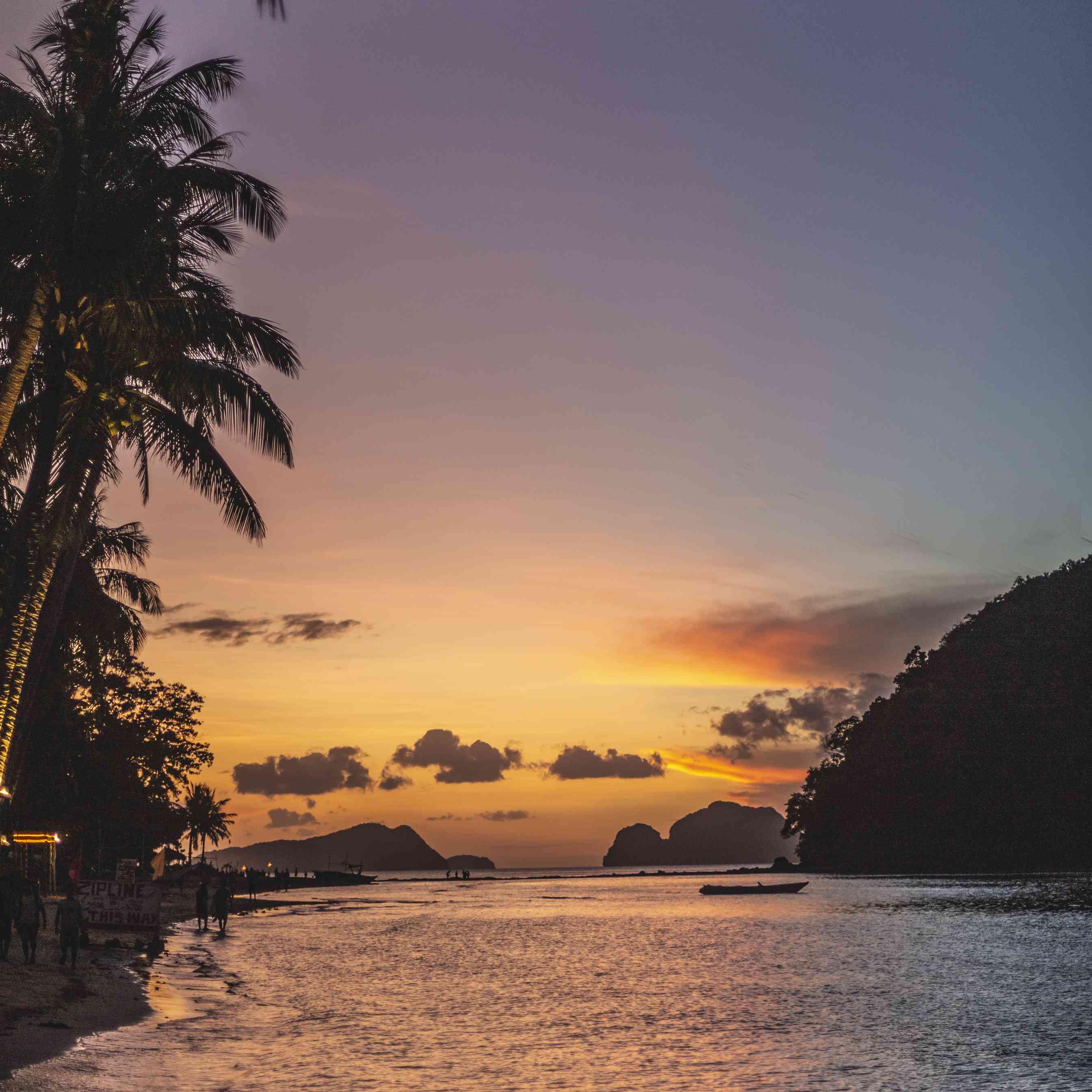 El Nido at sunset