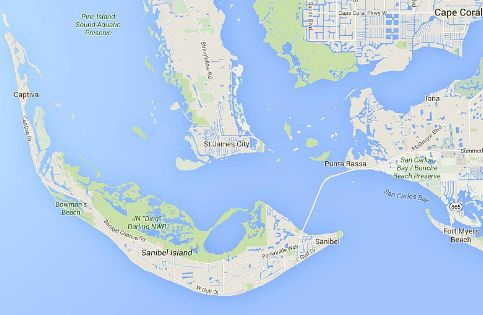 Coral Bay Florida Map on