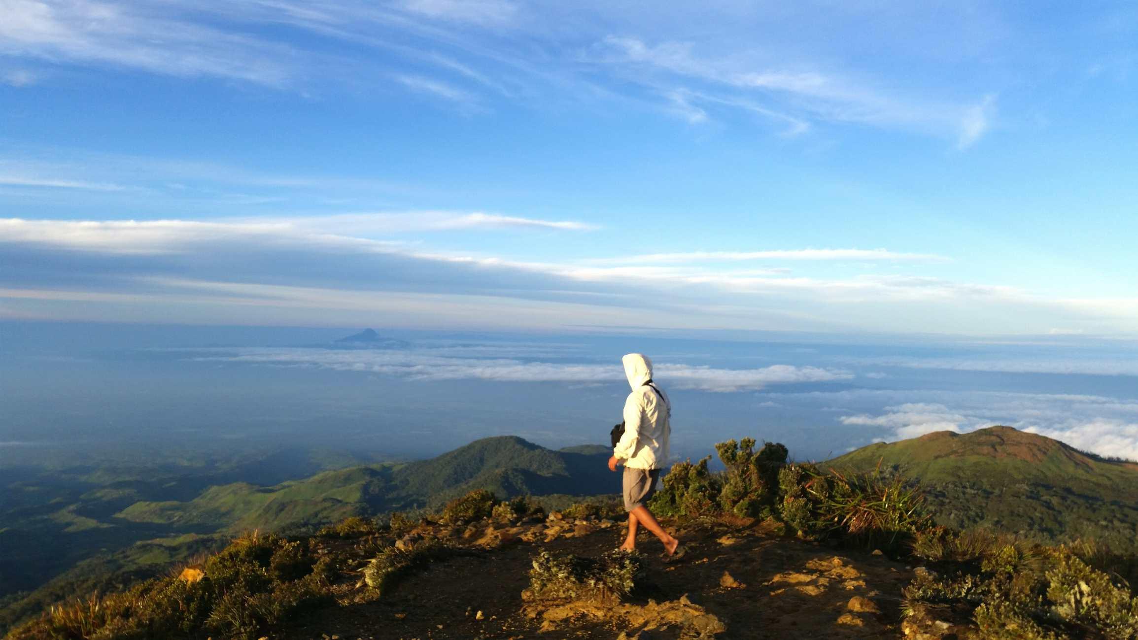 Climber on Mount Apo