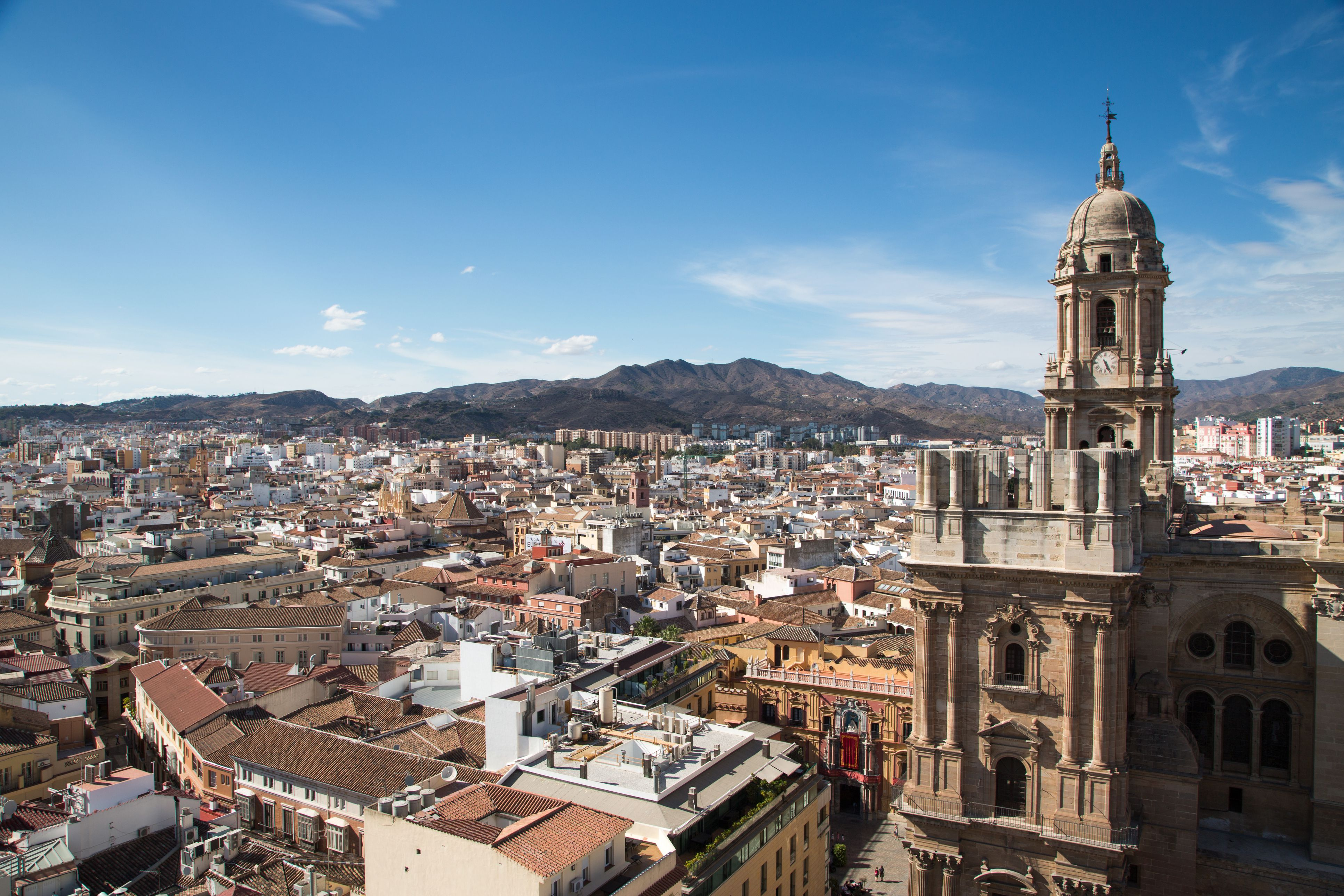 Overhead of Malaga from rooftop