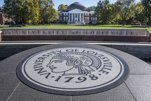 A picture of the University of Louisville campus.