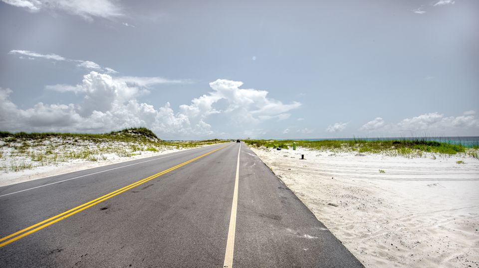 Beach Road near Pensacola, Florida