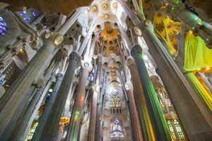 interior of the Sagrada Familia