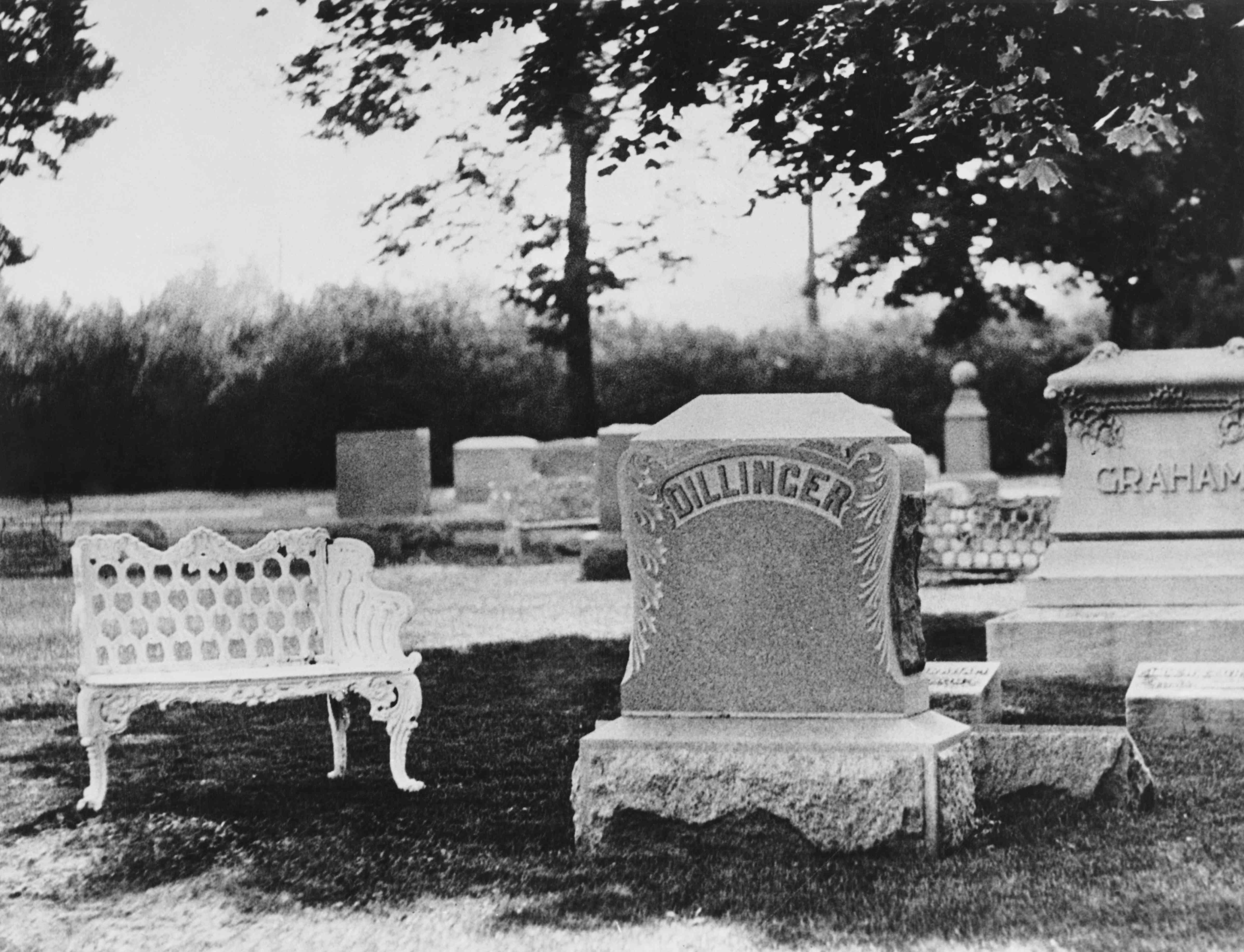 Dillinger Grave at Crown Hill Cemetery