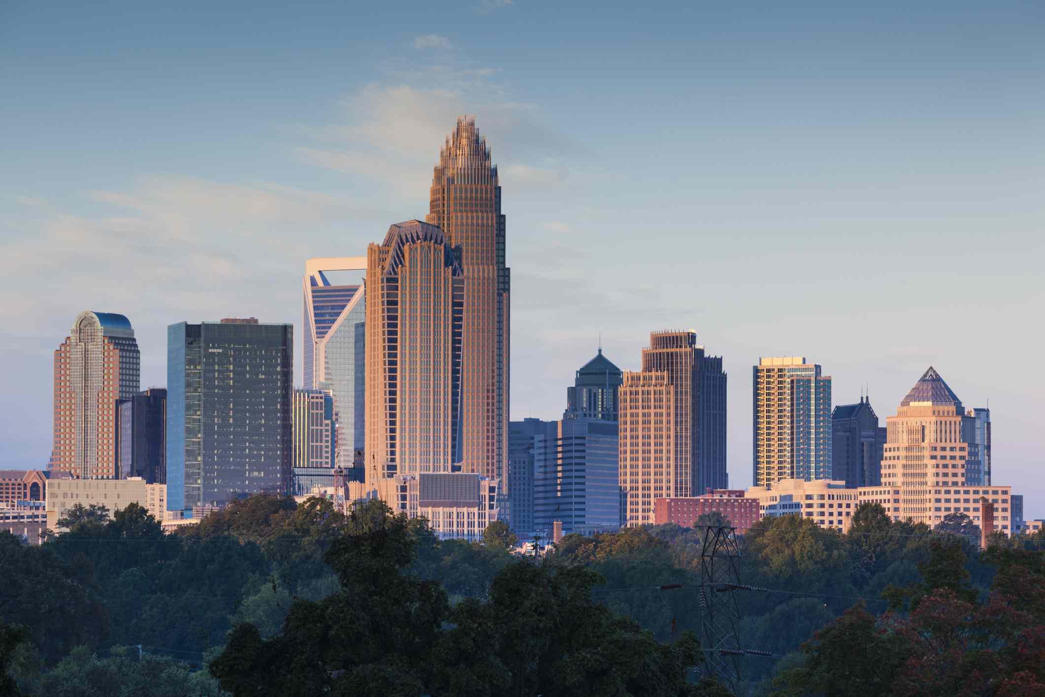 El horizonte de Charlotte.