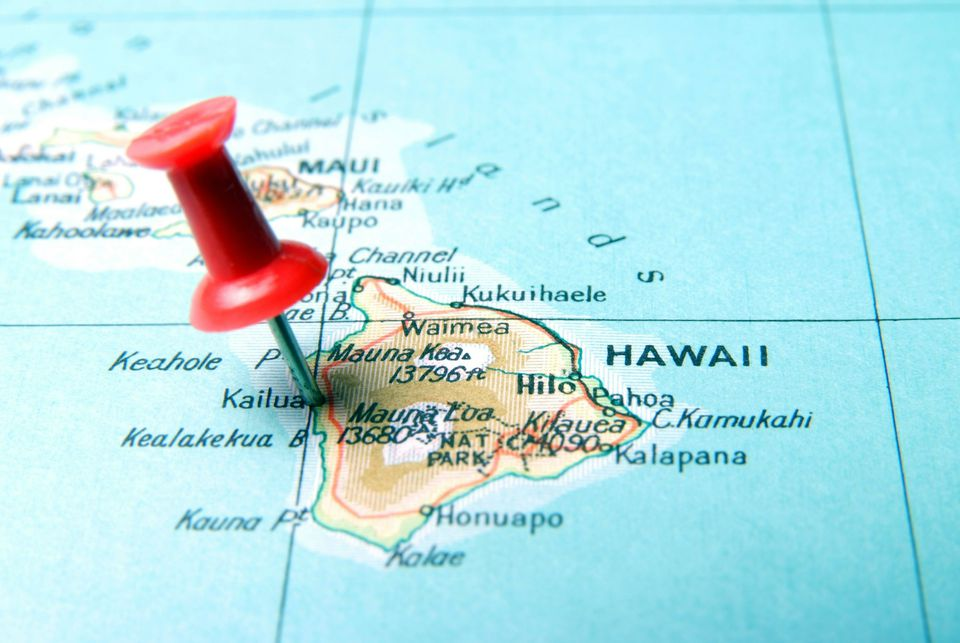 Map of Hawaii Island, the Big Island