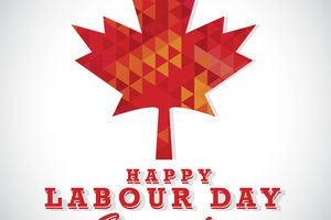 Modern mosaic Happy Canada Labour Day greeting template design