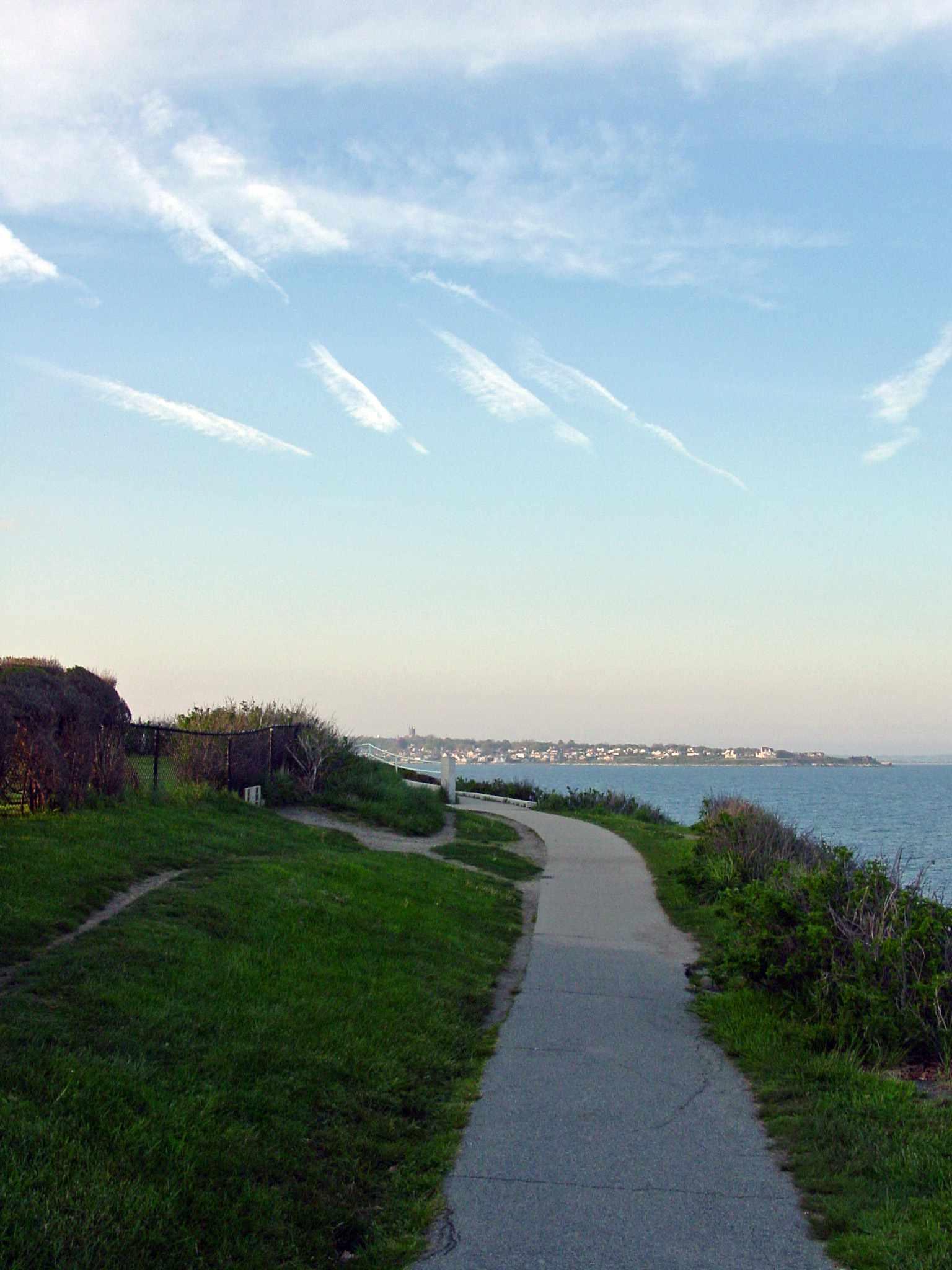 Cliff Walk in Newport Rhode Island Evening Photo