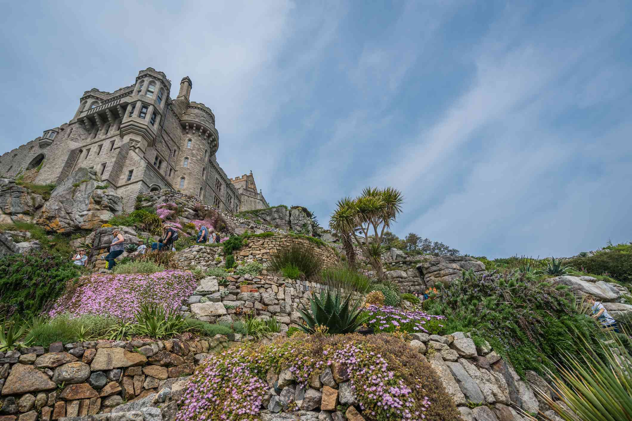 St Michaels Mount island fortress and gardens