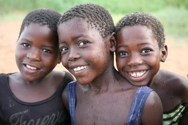 Children at Lake Malawi, Malawi