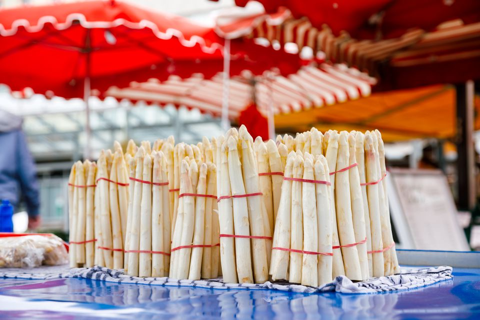 White asparagus on display in German festival