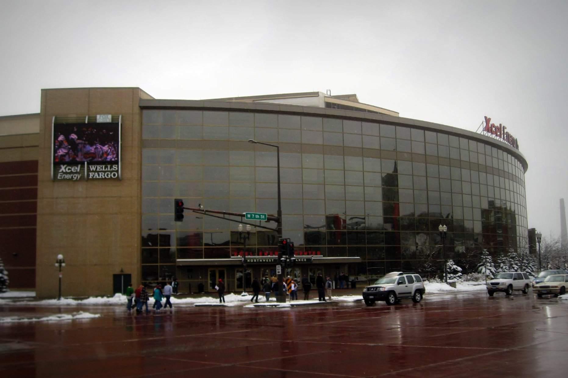 Xcel energy center in winter