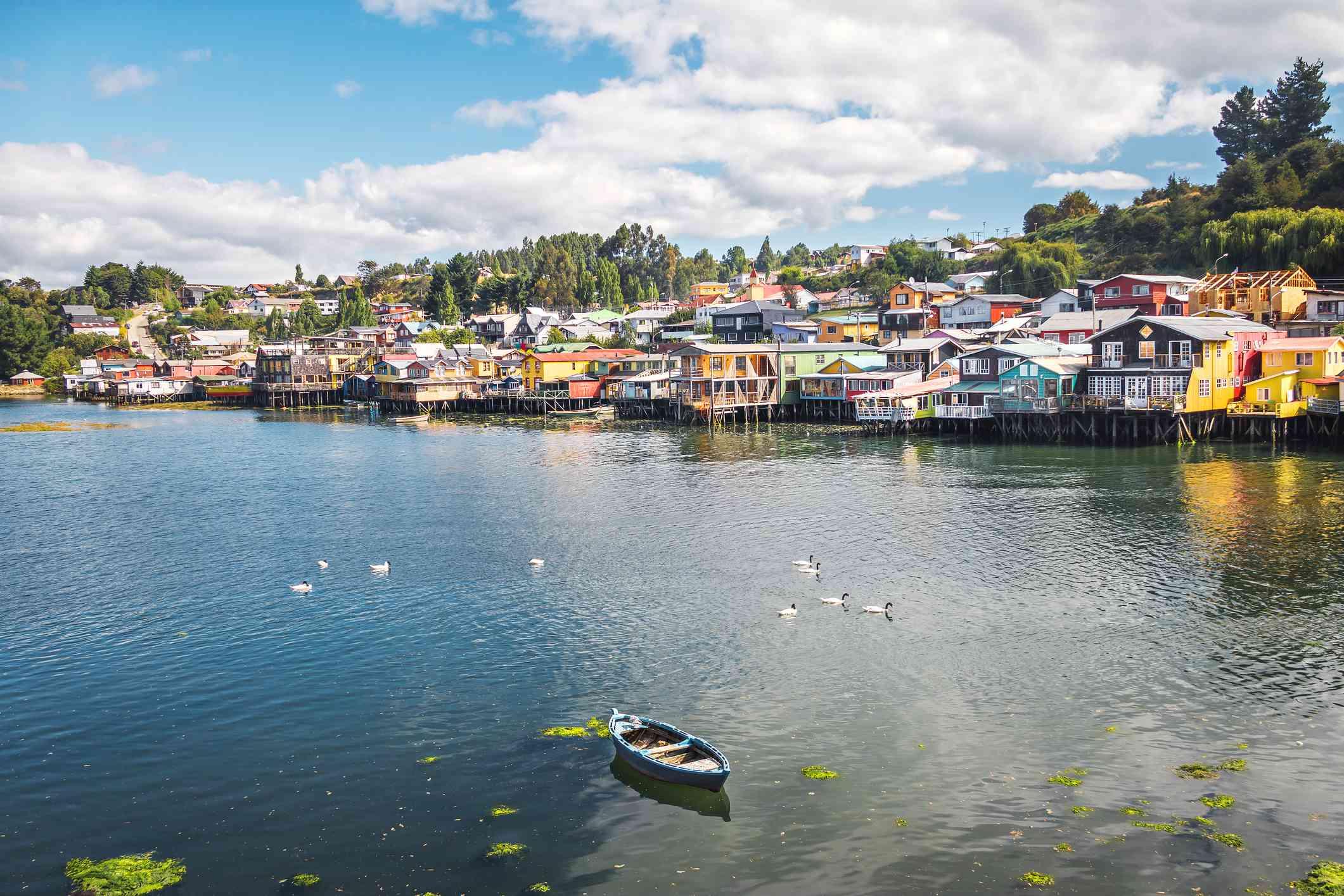 Gamboa Palafitos Stilt Houses - Castro, Chiloe Island, Chile