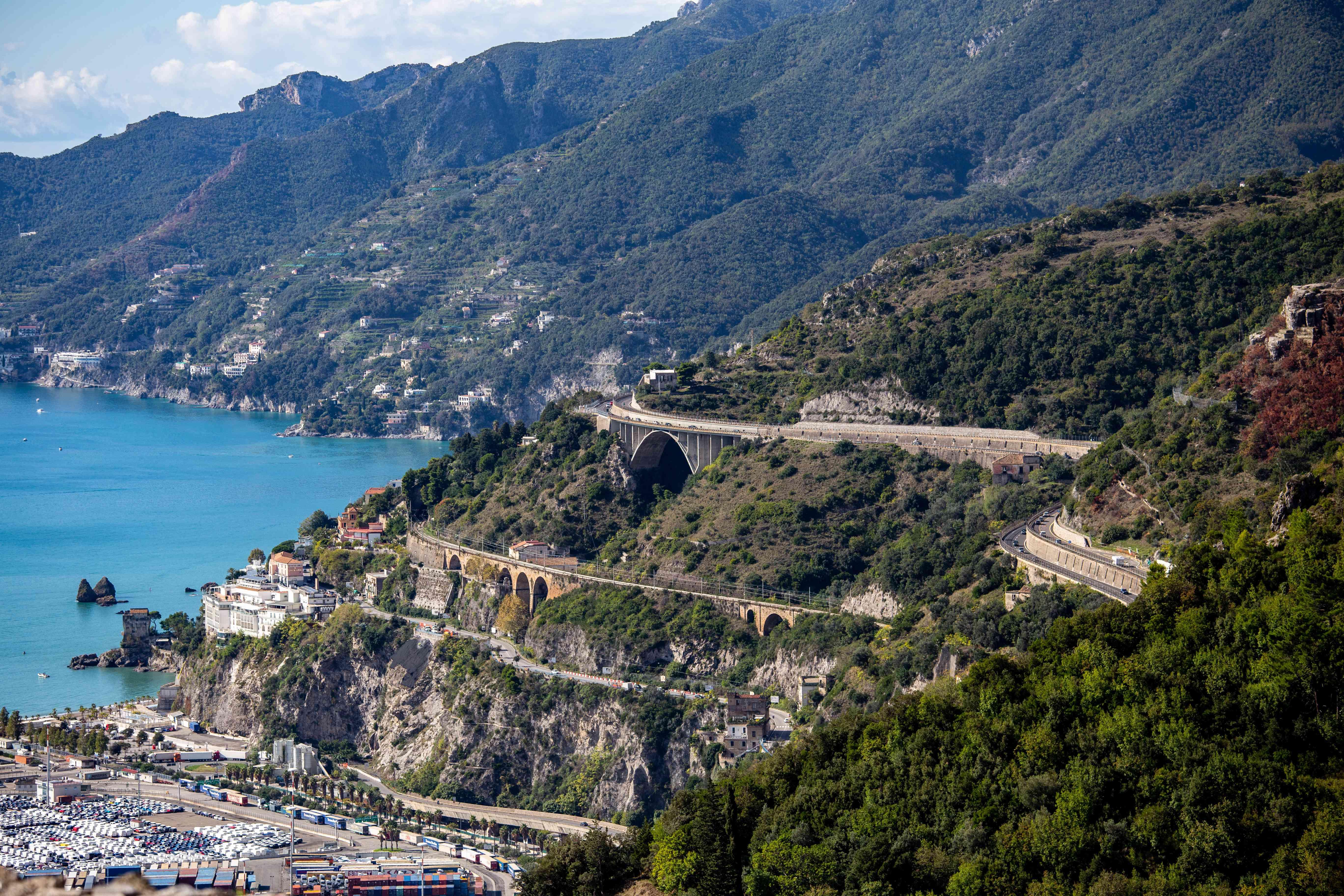 The Coast Road in the Amalfi Coast, Italy