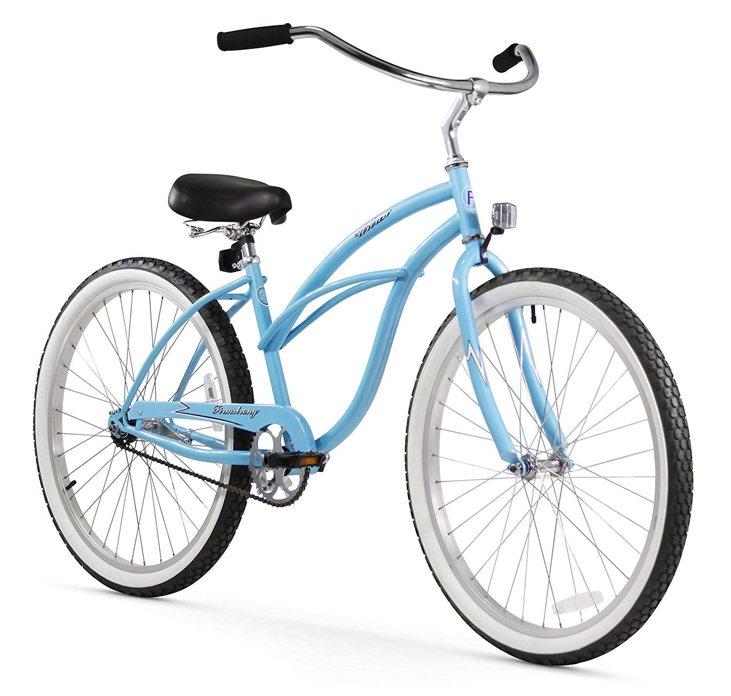 Firmstrong Urban Lady Single Speed ​​- Bicicleta 26 Beach Cruiser para mujer (azul bebé)