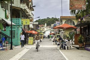 Street in San Ignacio, Cayo District, Belize