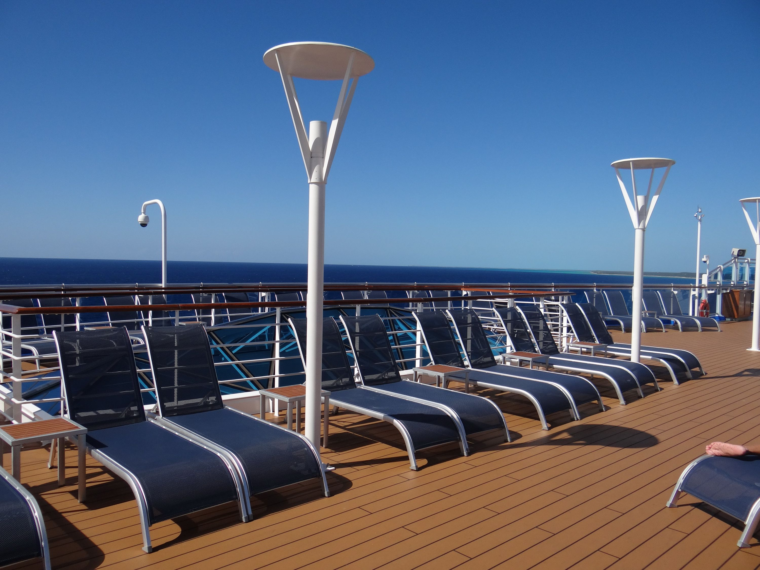 Deck chairs on the Regal Princess