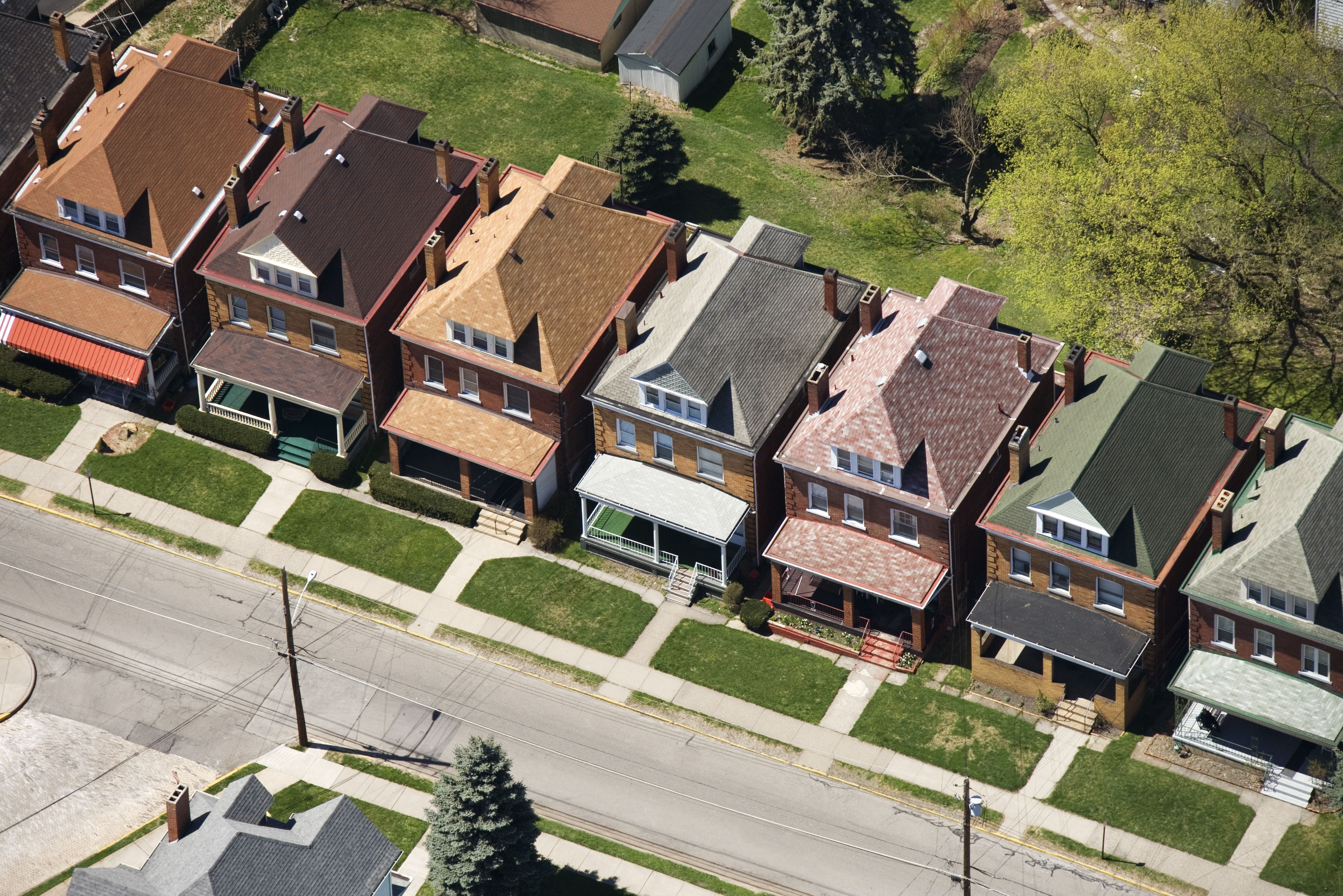 Row of identical houses