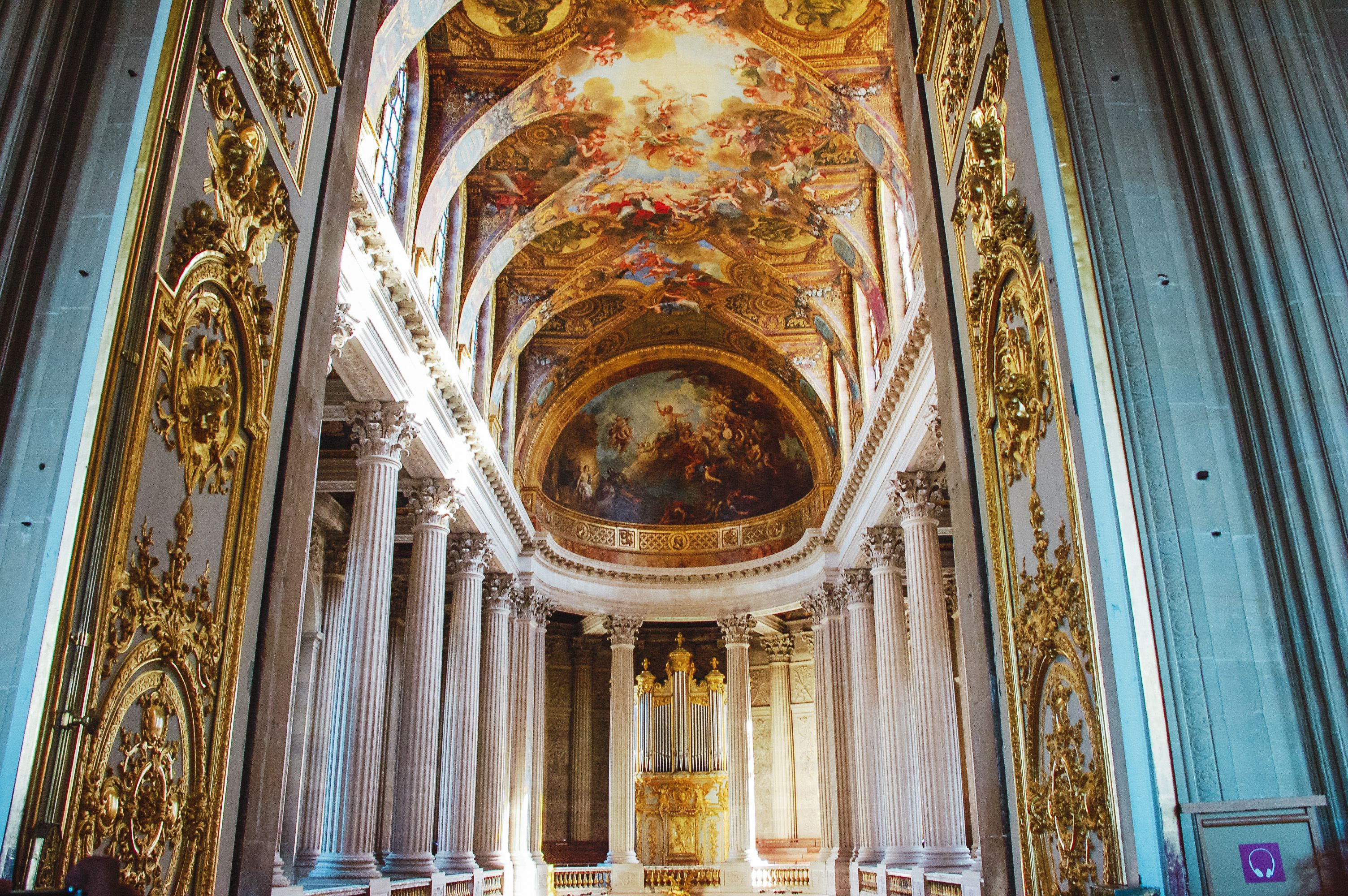 Inside a hall in Versailles