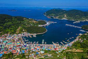 Aerial View of Yokjido Island, Tongyeong, South Korea