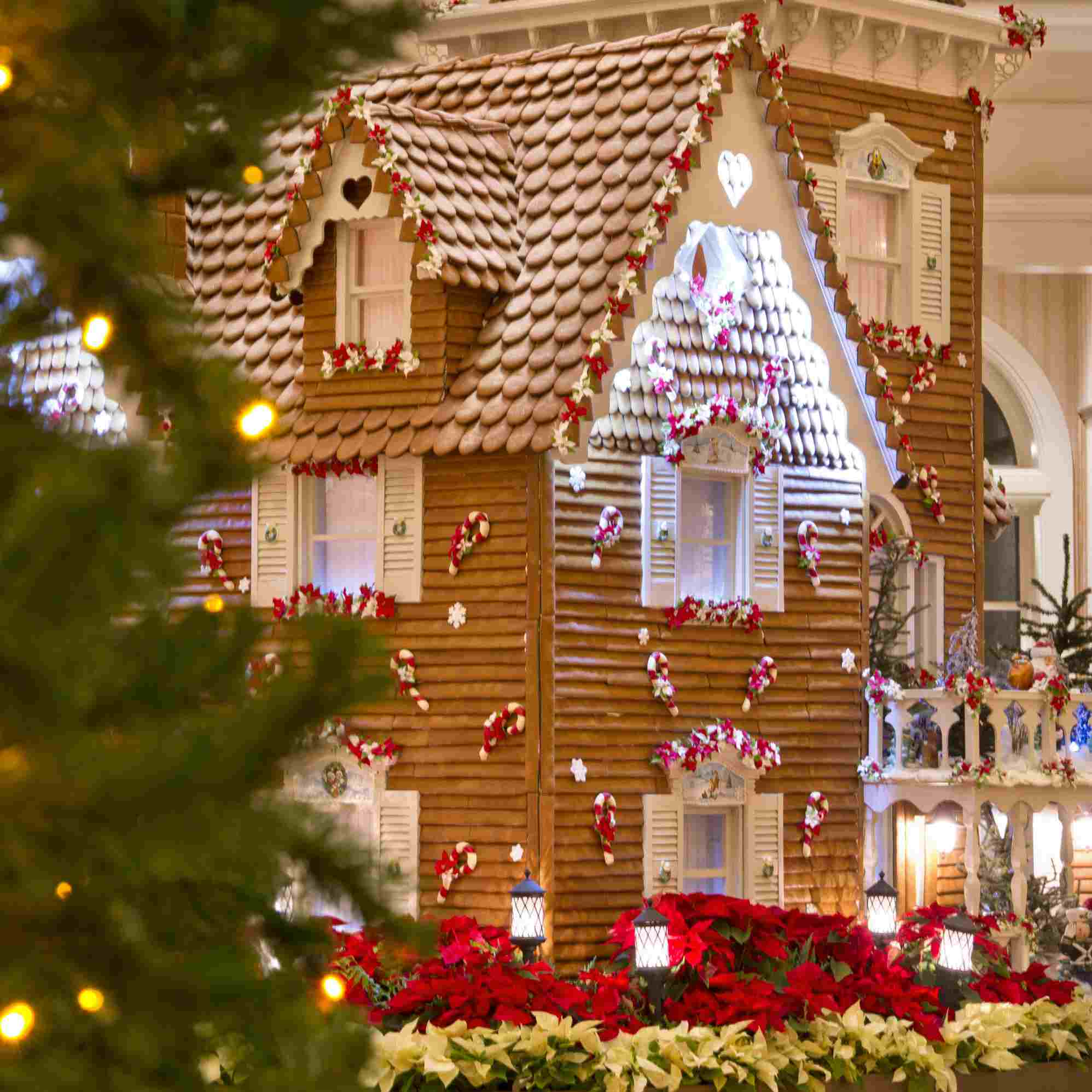 Gingerbread house in the lobby of the grand floridian resort