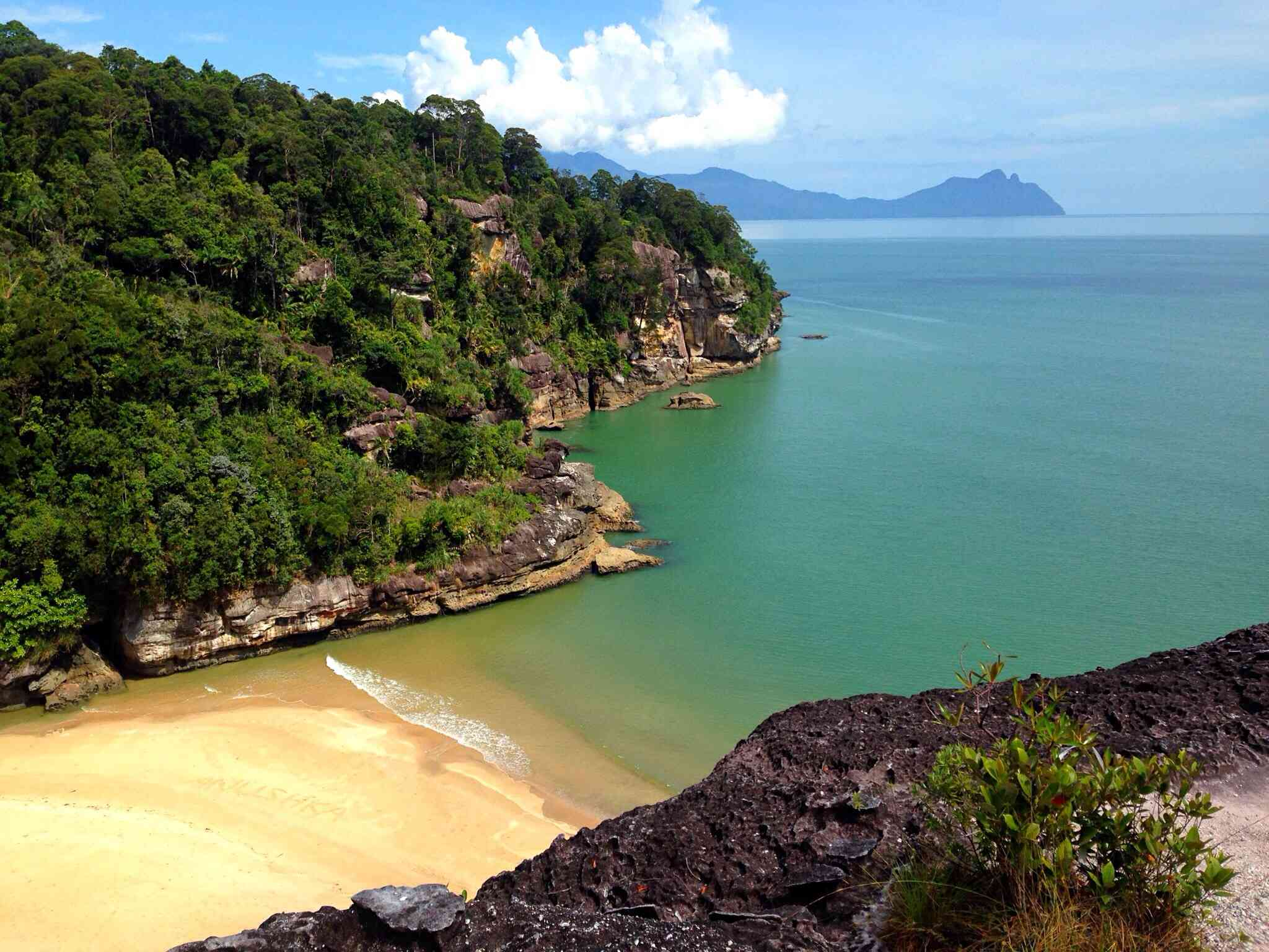 A beach at Bako National Park in Borneo