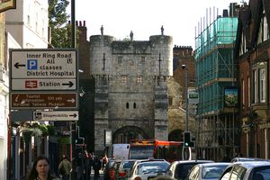 Bootham Bar is the oldest entrance into the medieval, walled city of York. It's also one of the entries to a walk along the top of York's ancient walls.
