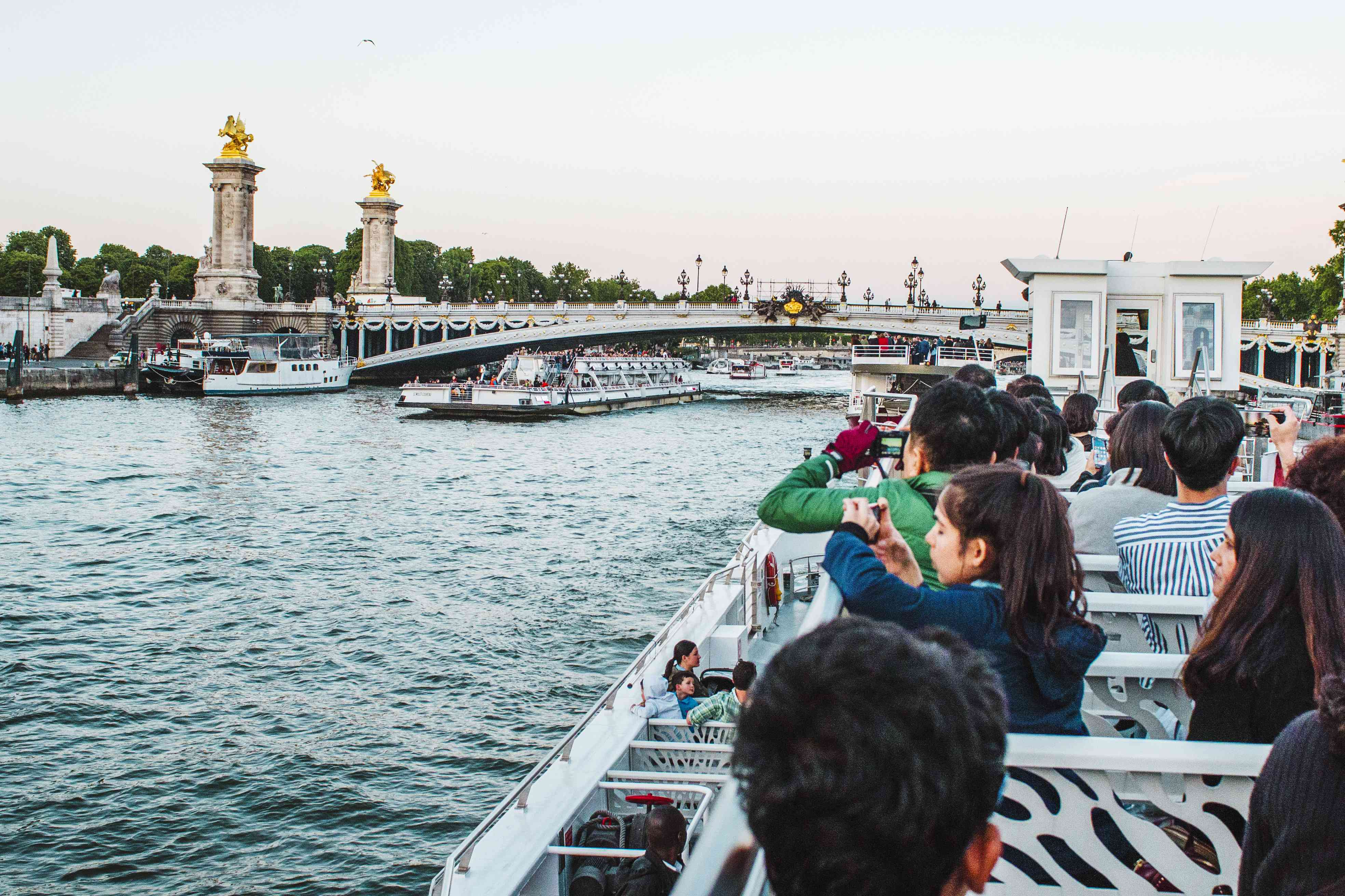 People on a seine cruise