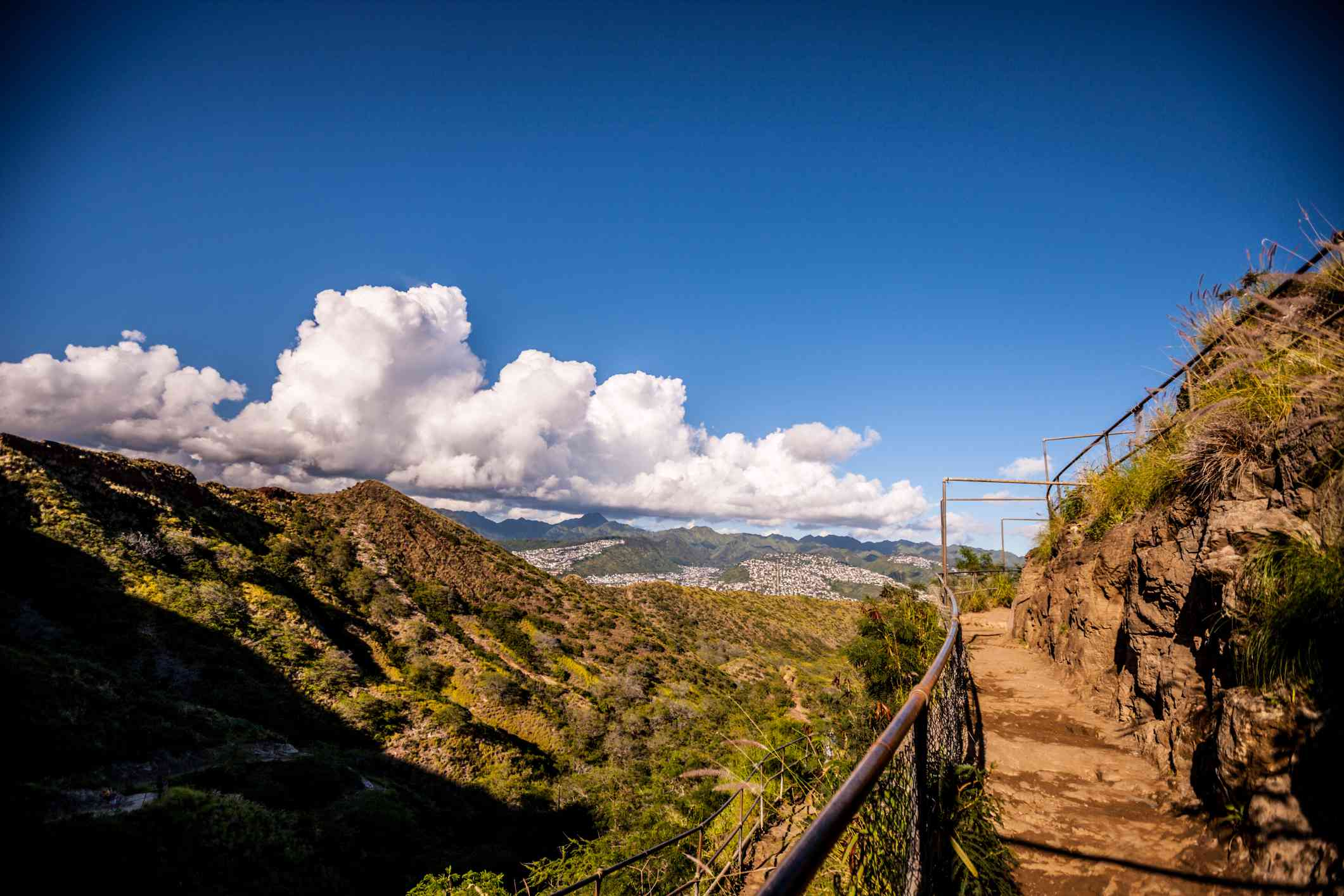 Diamond Head Trail in Honolulu, Hawaii