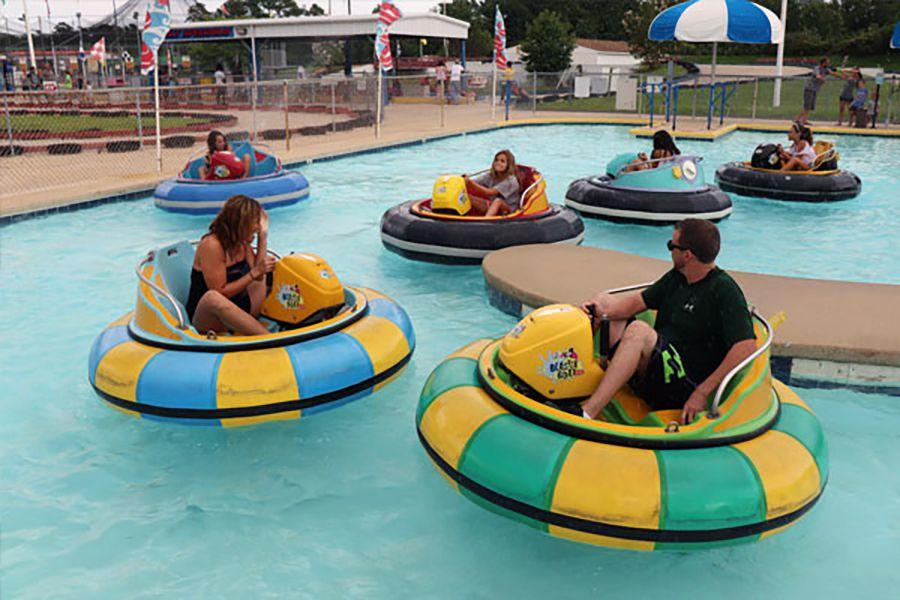 Grand Prix Amusements bumper boats in Maryland